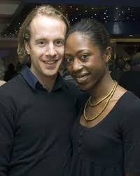 Nikki Amuka-Bird with her former Husband, Geoffrey Streatfeild