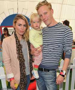 Billie Piper with her ex-husband Laurence Fox. husband, former husband, ex, relationship, married