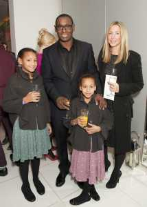 Kirsty Handy and David Harewood with their Children