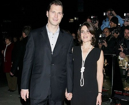 David Morrissey and his wife Esther Freud photo