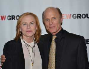Amy Madigan With Her Husband.
