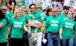 Jim Carrey participated in the Green our Vaccines program.