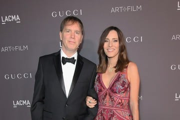 Cecilia Peck with her husband.