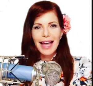 "Patricia Steere hosting the YouTube channel ""Flat Earth & Other Hot Potatoes"""