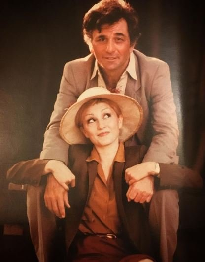 Peter Falk with his second wife  Shera Danese