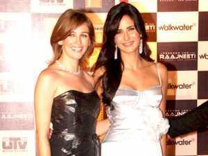 Sarah Thompson with Katrina Kaif