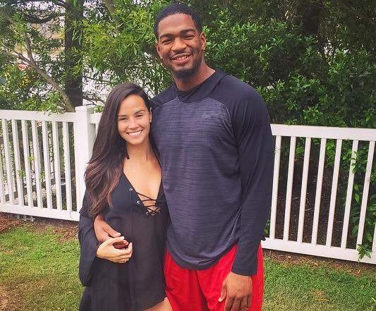 Jacoby Brissett and his girlfriend Sloan Young photo