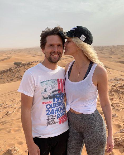 Alex Hirschi with her husband
