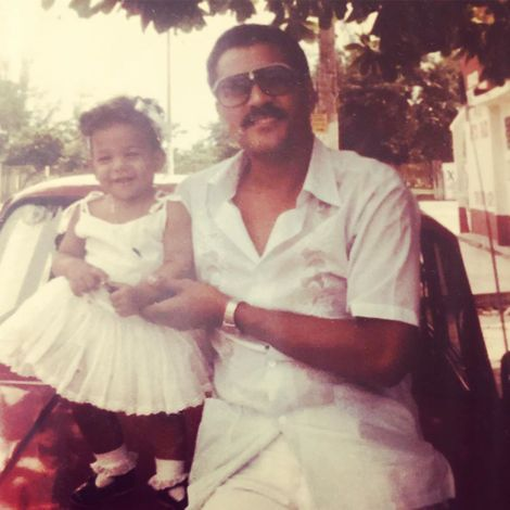 MJ Acosta and her father