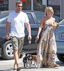 Ari Sandel and Julianne Hough with their dogs