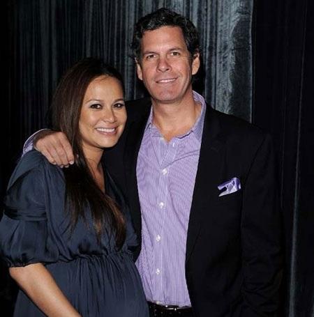 Moon Bloodgood and her ex-husband Grady Hall