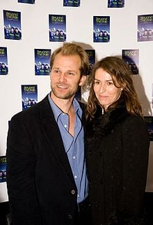 Helen Baxendale with her husband