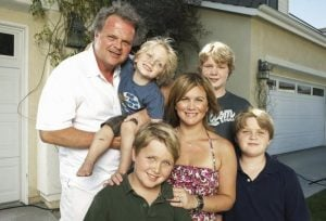 Tracey Gold with her husband, Roby Marshall and their children.