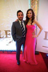 Jennifer Spence and Benjamin Ratner attending an award function.
