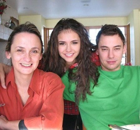 Alexander Dobrev with his mother and sister
