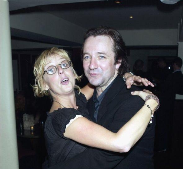 Ian Dunn and his late wife Emma Chambers