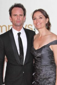 `Leanne and Walton Goggins at Emmy Award function.