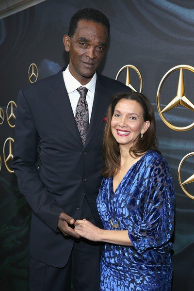 Aleize Sampson with her ex-husband, Ralph Sampson.