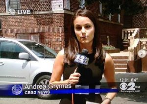 Andrea celebrating her 5 years in CBS New York