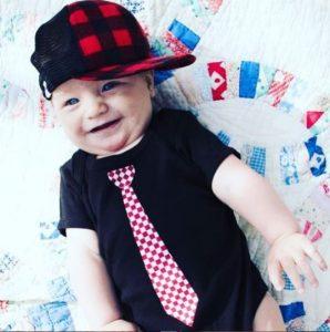 Childhood photo of Jennifer Laura Thompson's son.