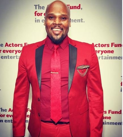Michael James Scott arrived at the Actorsfundgala.