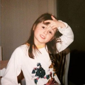 Childhood photo of Melanie Papalia.