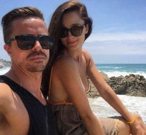 Melanie Papalia with her love partner, Geoff McLean.