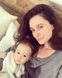 Melanie Papalia with her child.