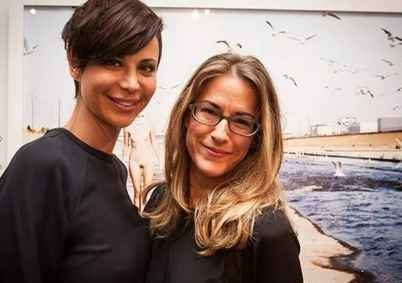 Catherine Bell with her reported lesbian partner, Brooke Daniells
