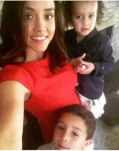 Image: Kellen's wife Janelle with their children
