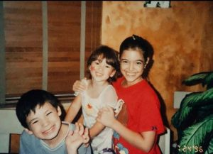 Childhood photo of Anabelle Acosta with her siblings.
