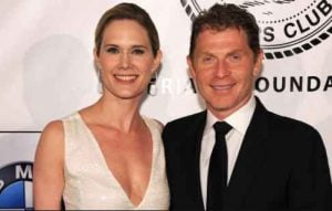 Bobby Flay with his second wife