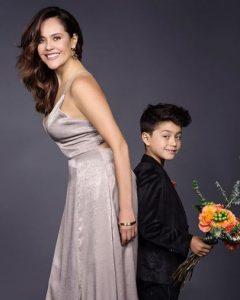 Cristina Umana with her handsome son.