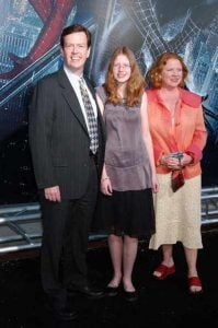Dylan Baker with his wife, Becky Ann Baker and daughter