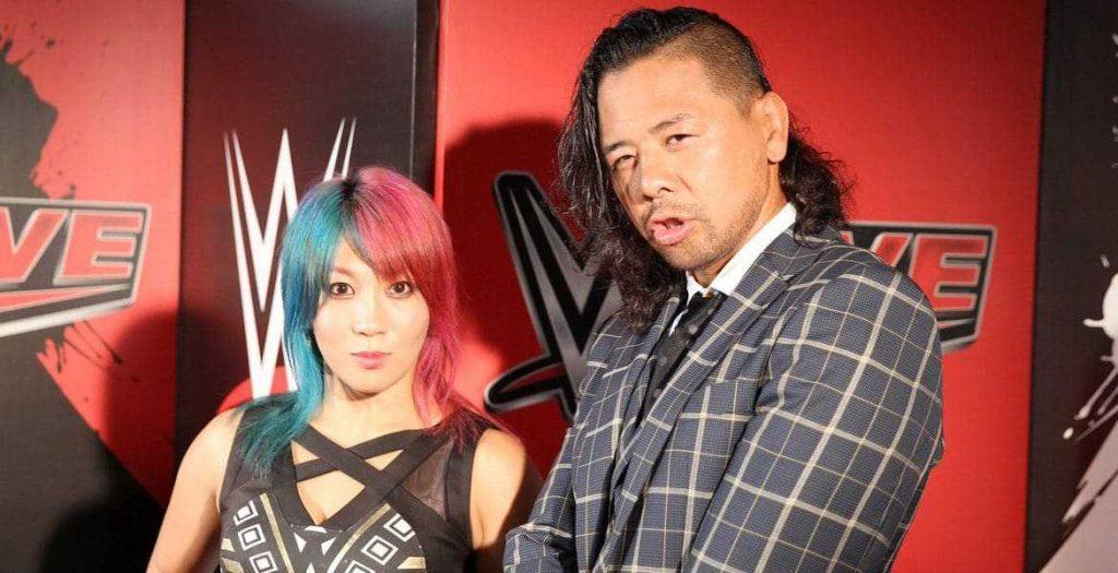 Harumi Maekawa with her husband, Shinsuke Nakamura