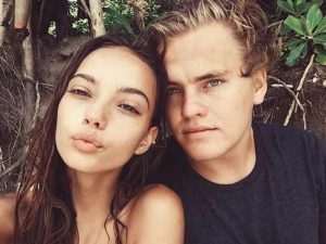 Inka Williams with her boyfriend, Zak Henry