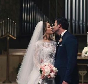 Jay Adkins on the day of his wedding with his wife, Ximena Duque