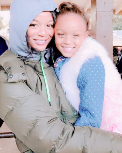 Kyla with her daughter