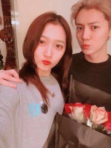 Guan with her boyfriend Luhan