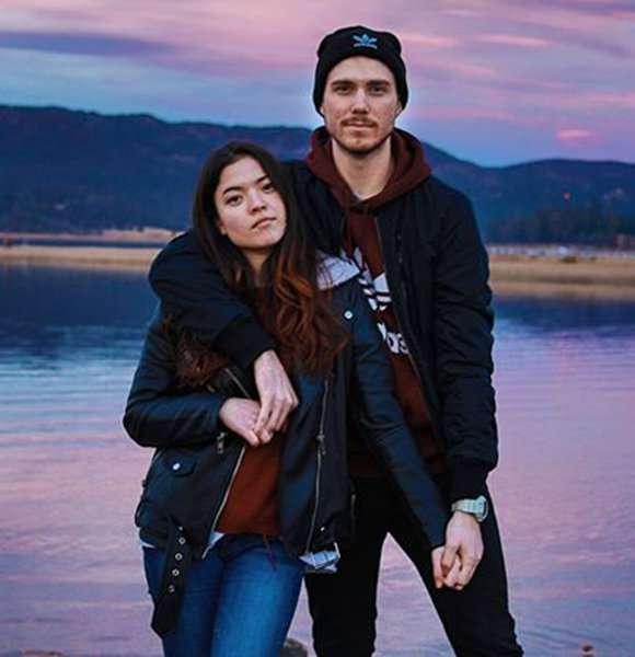 Piper Curda with her boyfriend, Troy Ogletree.
