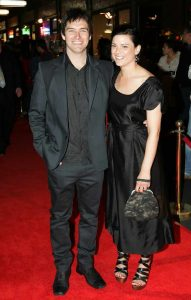 Starr and his partner, Lucy McLay in an award function.