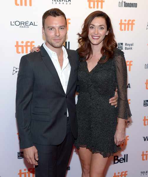 Peter Mooney with his wife, Sarah Powers arrived at the TIFF Soiree during the Toronto International Film Festival at TIFF Bell Lightbox on 7th September 2016, in Toronto, Canada.