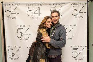 Susan Misner with her ex-boyfriend, Jonathan Bernstein in a movie premiere.