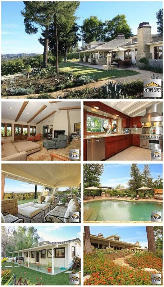 Quinn's David Boreanaz' house in the guard gated Hidden Hills community in the northwestern suburbs of Los Angeles.