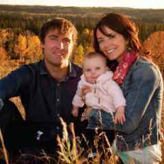 Michelle Morgan with husband, Derek Tisdelle and their children.