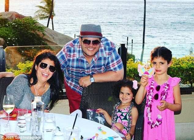 Josh Gad enjoying a vacation with their family