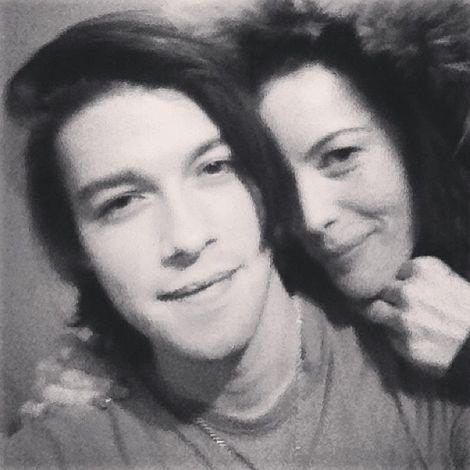 Ryan Munzert and his mother