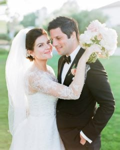 Casey Wilson and David Caspe's wedding ceremony.