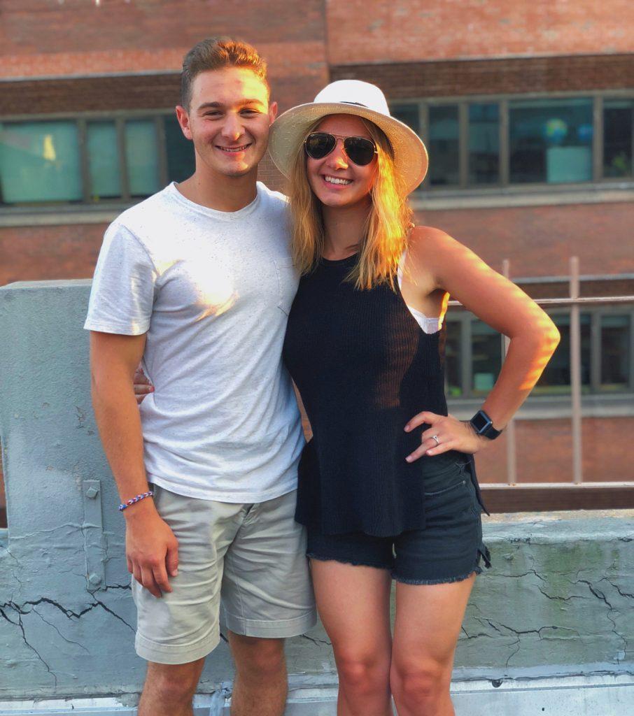 Jake Richard Siciliano with his girlfriend