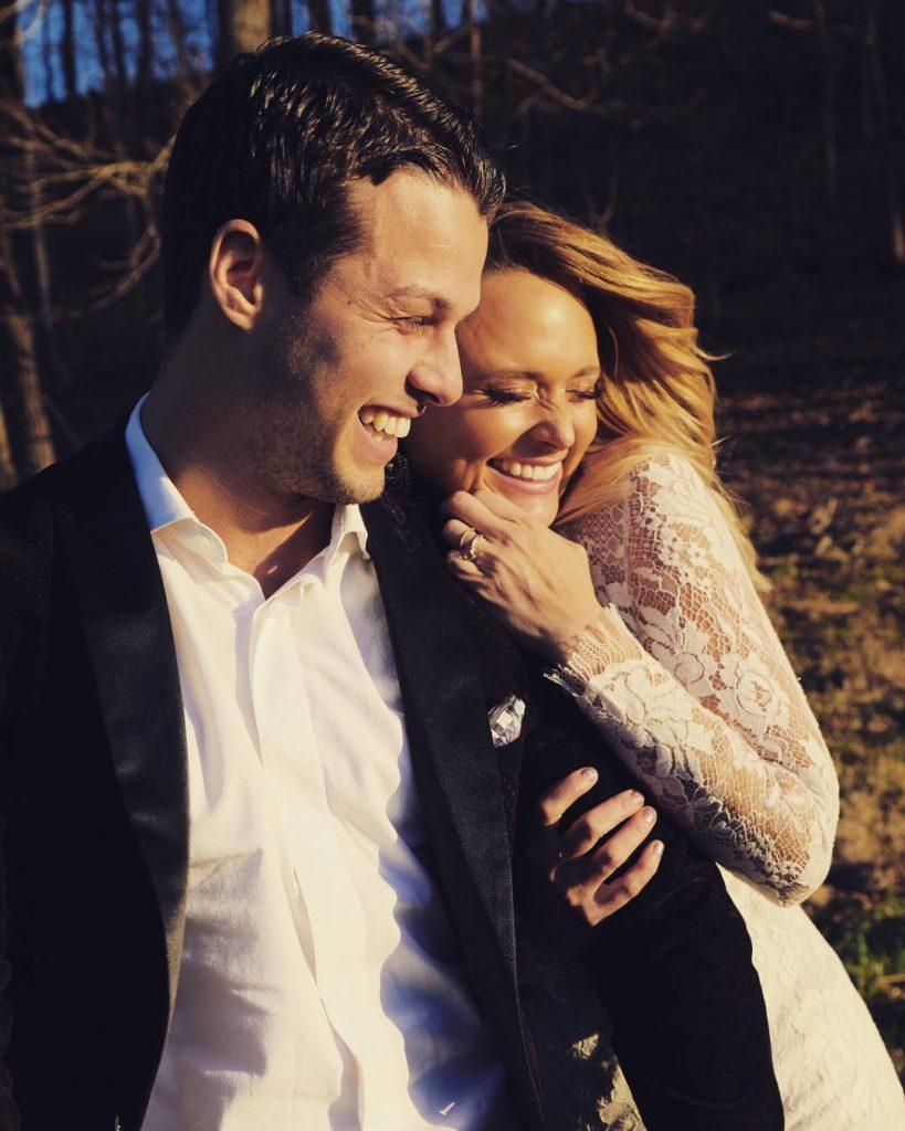 Brendon with his wife Miranda